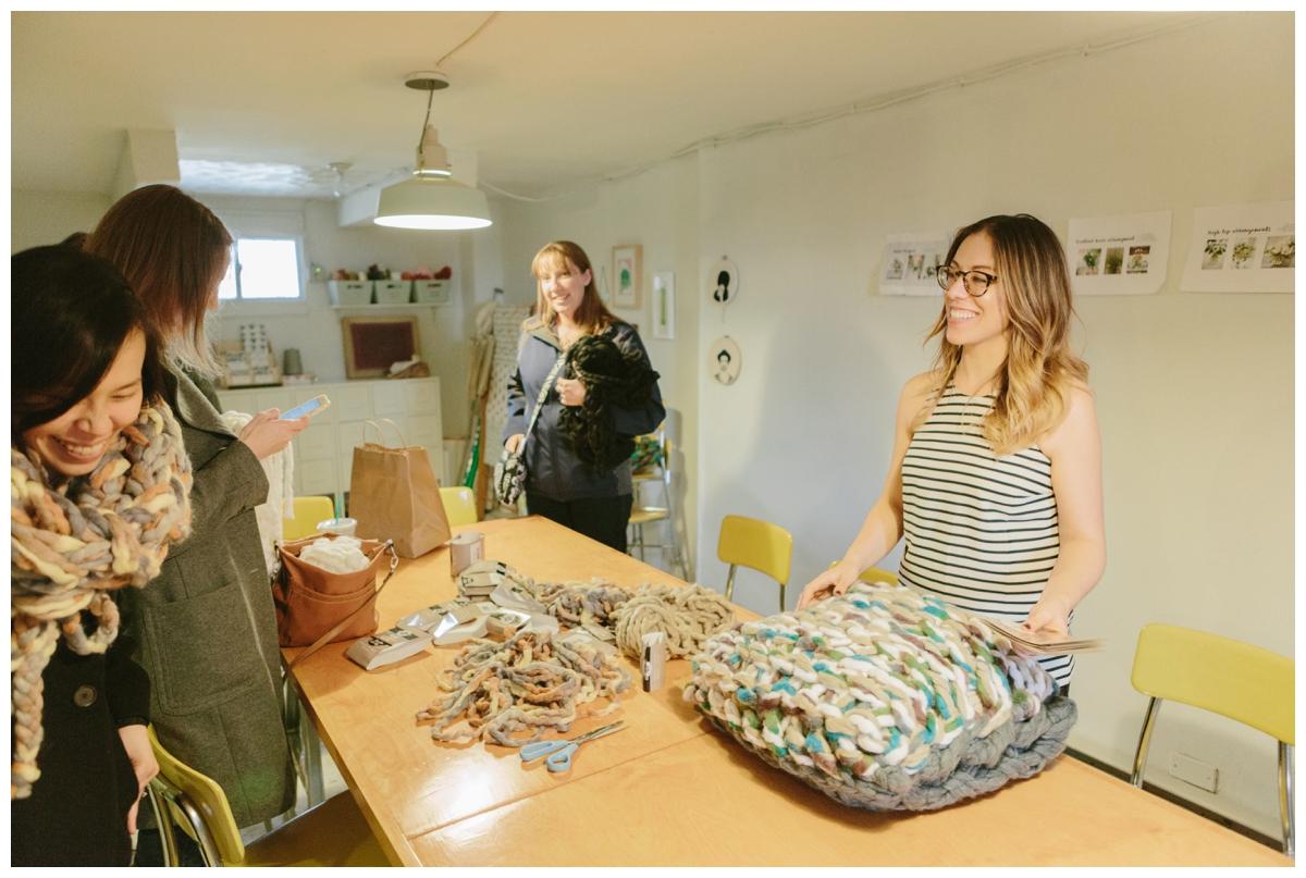 2016-03-13_0025 Capital Society's Cozy Cowl Arm Knitting Workshop at Lemon Bowl DC